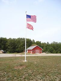 Commercial Fiberglass Flag Pole