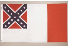 THIRD CONFEDERATE NYLON FLAG