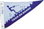"""10"""" X 15"""" Skier On Board Pennant - Product Image"""