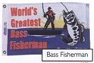 "12"" X 18"" Worlds Greatest Bass Fisherman Flag - Product Image"