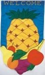 Pineapple Welcome Garden Banner Free Shipping - Product Image