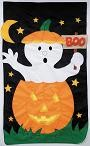 Boo Halloween Garden Banner Free Shipping - Product Image