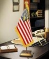 Presidential American Flag Desk Set