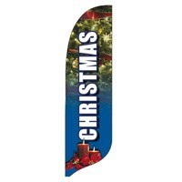 2 x 12 ft. Christmas Blade Flag - Product Image