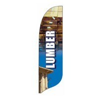 2 x 12 ft. Lumber Blade Flag