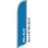 2 x 12 ft. Solid Color Bell Blue Blade Flag