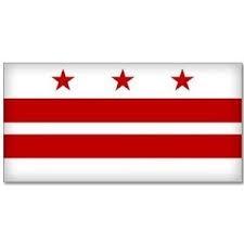 6' x 10' Washington D.C. Nylon Flag - Product Image