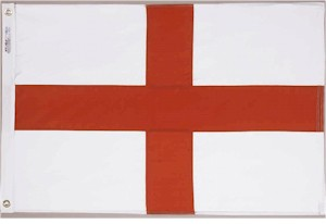 2' X 3' Saint George Cross Flag - Nylon - Product Image