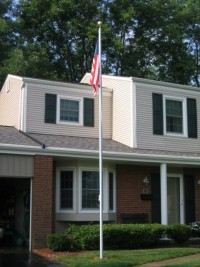 25 ft. X 3 in. Residential Aluminum Flag Pole - Product Image