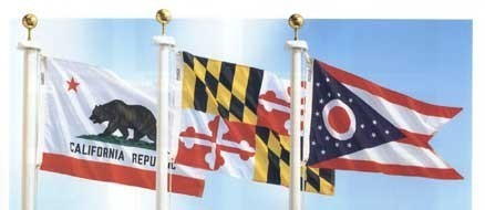 3' x 5' Complete State Flag Set - Product Image