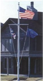 "30' - 5"" Medium Duty Commercial Aluminum Nautical Flag Pole - Product Image"