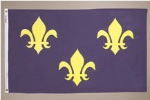 3' X 5' French Fleur-de-lis Flag - Nylon - Product Image
