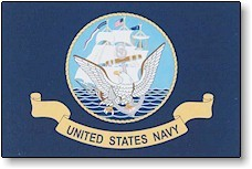 3' X 5' Indoor United States Navy Flag - Nylon - Product Image