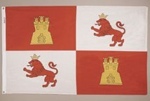 3' X 5' Lions and Castle (Royal Standard of Spain) Flag - Nylon - Product Image