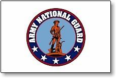 3' X 5' Indoor United States Army National Guard Flag - Nylon - Product Image