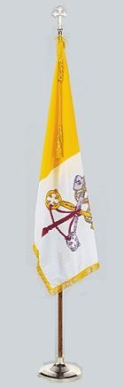 Complete Indoor Papal Flag Pole Set - Product Image