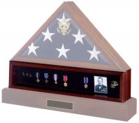 Medal Display Pedestal for Flag Display Case - Product Image