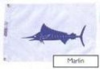 "12"" X 18"" Marlin Flag - Product Image"