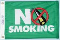 "12"" X 18"" No Smoking Flag - Product Image"