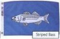 "12"" X 18"" Striped Bass Flag - Product Image"