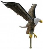 12 in. Natural Color Eagle Flag Pole Ornament