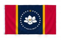"12"" x 18"" State of Mississippi Flag - Nylon - Product Image"