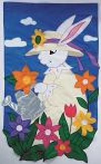Garden Bunny Garden Banner Free Shipping - Product Image