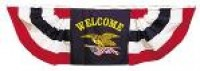 Welcome Eagle Pleated Fan Bunting - Product Image