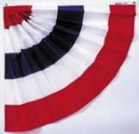 Pleated Half Fan Bunting - Product Image