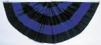 Pleated Mourning Fan - Product Image