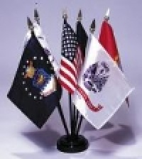 Armed Forces Flags Desk Set - Product Image