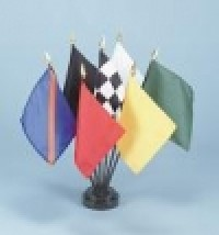 Auto Racing Flags Desk Set - Product Image