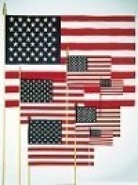 4 x 6 Inch Verona Brand American Stick Flags - Product Image
