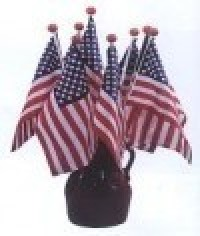 4 x 6 Inch Saf-T-Ball American Stick Flags - Product Image