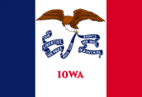 2' X 3' State of Iowa Flag - Nylon - Product Image