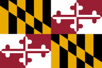 2' X 3' State of Maryland Flag - Nylon - Product Image