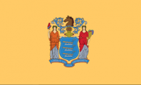 2' X 3' State of New Jersey Flag - Nylon - Product Image