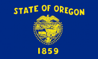 2' X 3' State of Oregon Flag - Nylon - Product Image
