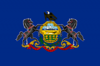 2' X 3' State of Pennsylvania Flag - Nylon - Product Image