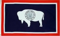2' X 3' State of Wyoming Flag - Nylon - Product Image