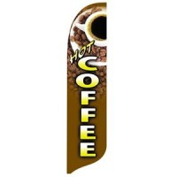 2 x 12 ft. Hot Coffee Blade Flag - Product Image