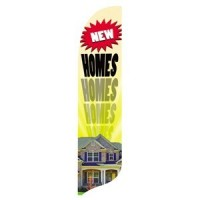 2 x 12 ft. New Homes Blade Flag