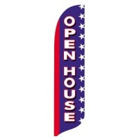 2 x 12 ft. Open House Blade Flag