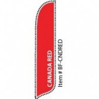 2 x 12 ft. Solid Color Canada Red Blade Flag