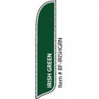 2 x 12 ft. Solid Color Emerald Green Blade Flag