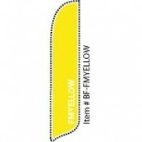 2 x 12 ft. Solid Color FM Yellow Blade Flag
