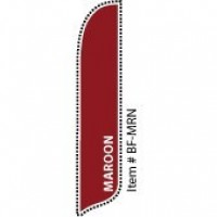 2 x 12 ft. Solid Color Maroon Blade Flag