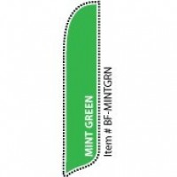 2 x 12 ft. Solid Color Mint Green Blade Flag