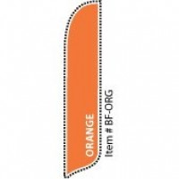 2 x 12 ft. Solid Color Orange Blade Flag