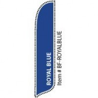 2 x 12 ft. Solid Color Royal Blue Blade Flag